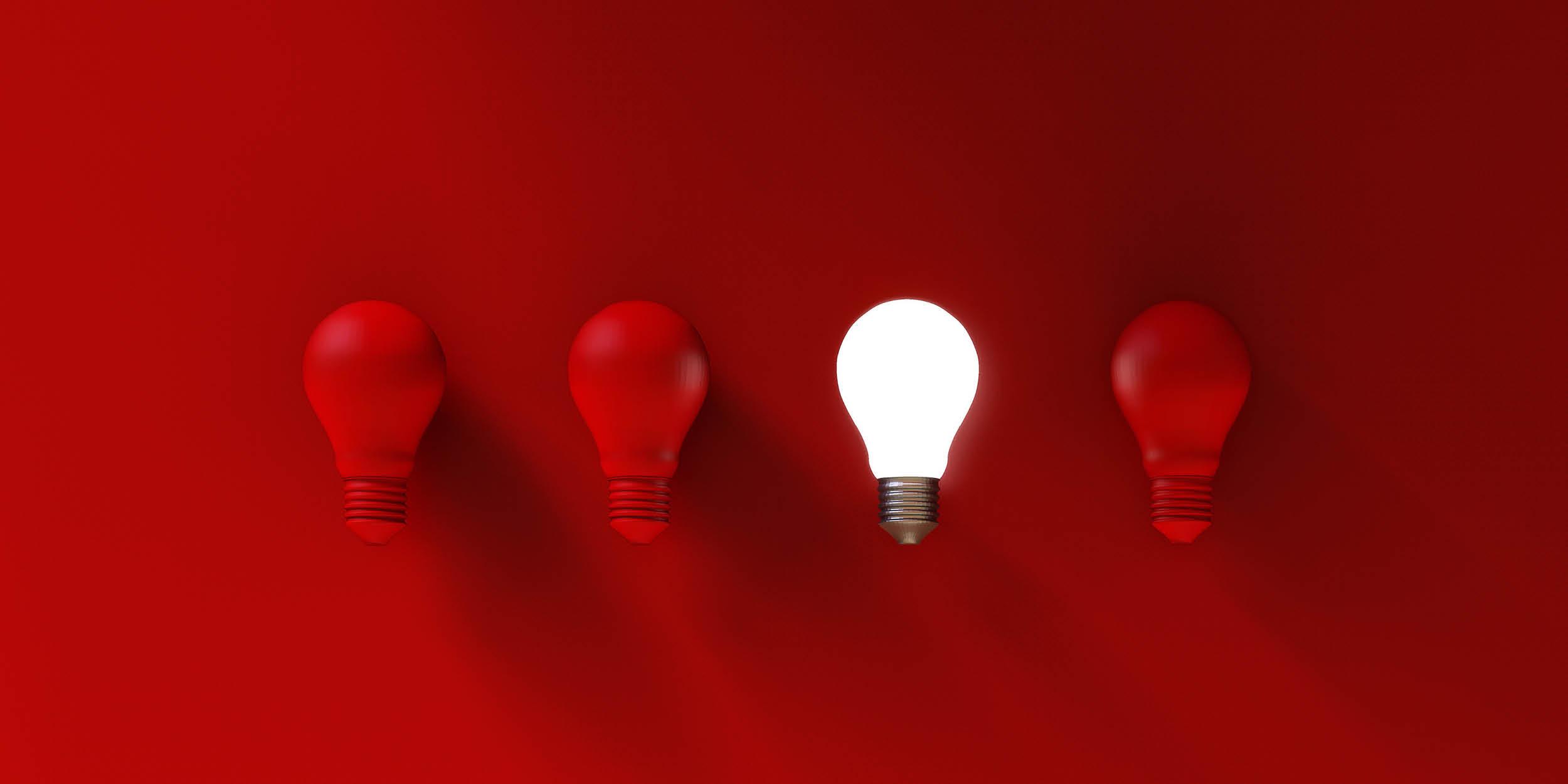 Red lightbulbs